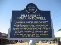 Blues Trail Marker for Fred McDowell